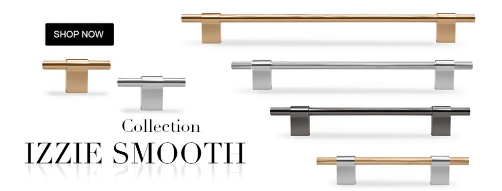Izzie Smooth cabinet hardware collections pulls